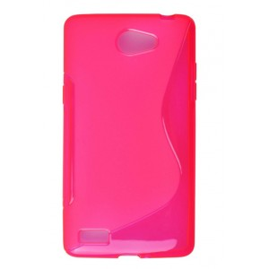 Coque De Protection En Silicone Rose Pour LG Bello II