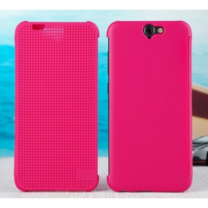 Protection Etui Flip Folio Dot View Rose Pour HTC One A9