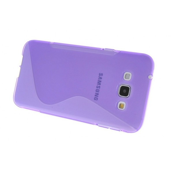 coque protection silicone violet samsung galaxy a8. Black Bedroom Furniture Sets. Home Design Ideas