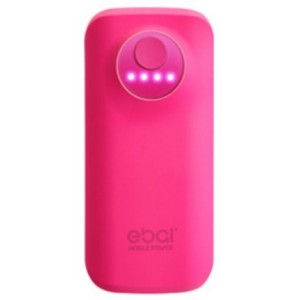 Batterie De Secours Rose Power Bank 5600mAh Pour iPhone 5
