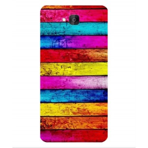 Coque De Protection Bois Arc-En-Ciel Pour Huawei Honor Holly 2 Plus