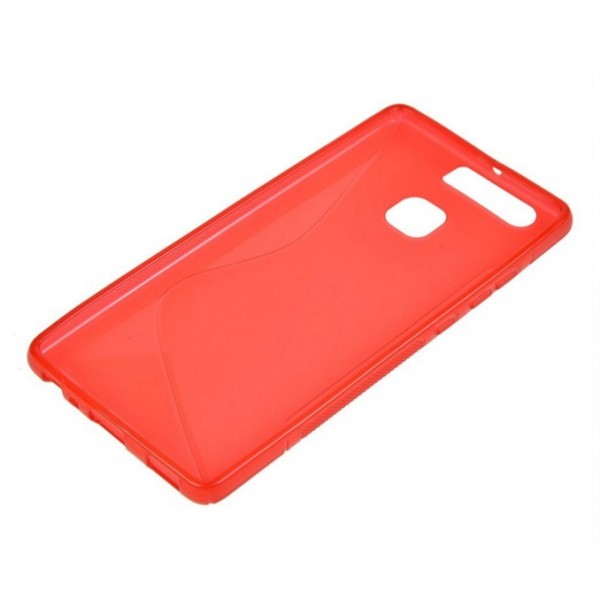 coque huawei p8 lite rouge silicone