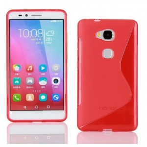 Coque De Protection En Silicone Rouge Pour Huawei Honor 5c