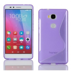 Coque De Protection En Silicone Violet Pour Huawei Honor 5c
