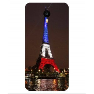 Coque De Protection Tour Eiffel Couleurs France Pour Meizu M1 Metal