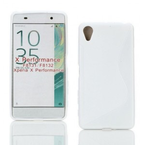 Coque De Protection En Silicone Blanc Pour Sony Xperia X Performance