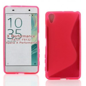 Coque De Protection En Silicone Rose Pour Sony Xperia X Performance