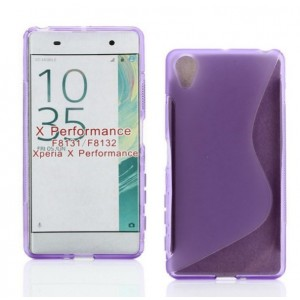 Coque De Protection En Silicone Violet Pour Sony Xperia X Performance