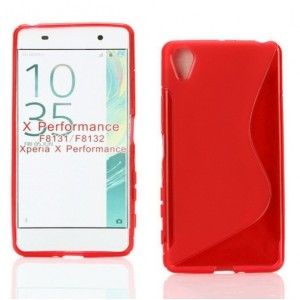 Coque De Protection En Silicone Rouge Pour Sony Xperia X Performance