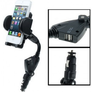 Support Voiture Avec 2 Prises USB Pour Wiko Selfy 4G Rubby