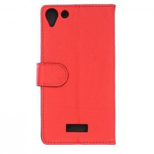 Etui Clapet A Rabat Cuir Rouge Pour Wiko Selfy 4G Rubby