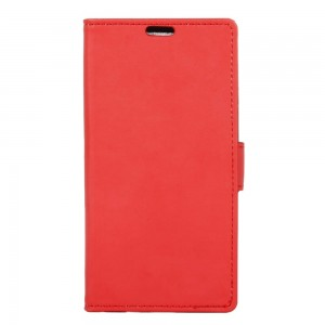 Etui Clapet A Rabat Cuir Rouge Pour Wiko Robby