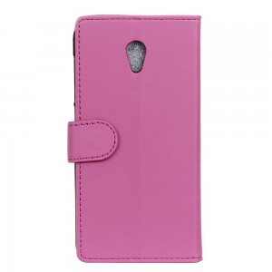Etui Clapet A Rabat Cuir Rose Pour Wiko Robby