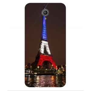 Coque De Protection Tour Eiffel Couleurs France Pour Vodafone Smart Prime 7