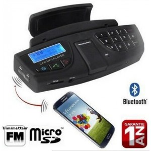 Kit Main Libre Bluetooth Volant Voiture Pour Wiko U Feel