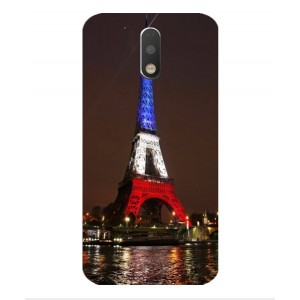 Coque De Protection Tour Eiffel Couleurs France Pour Motorola Moto G4 Play