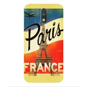 Coque De Protection Paris Vintage Pour Motorola Moto G4 Play