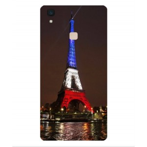 Coque De Protection Tour Eiffel Couleurs France Pour Vivo V3 Max