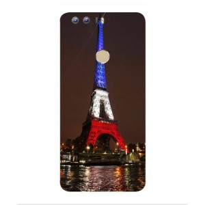 Coque De Protection Tour Eiffel Couleurs France Pour Huawei Honor 8
