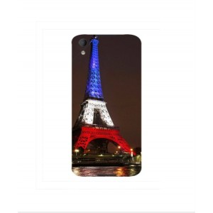 Coque De Protection Tour Eiffel Couleurs France Pour BlackBerry Neon