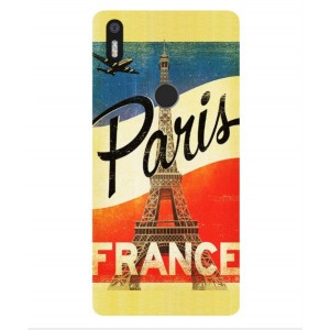 Coque De Protection Paris Vintage Pour BQ Aquaris X5 Plus