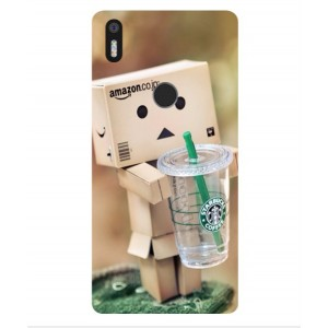 Coque De Protection Amazon Starbucks Pour BQ Aquaris X5 Plus