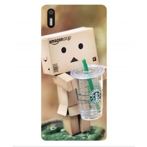 Coque De Protection Amazon Starbucks Pour BQ Aquaris X5