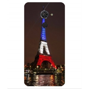 Coque De Protection Tour Eiffel Couleurs France Pour Vodafone Smart Platinum 7