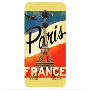 Coque De Protection Paris Vintage Pour Vodafone Smart Platinum 7