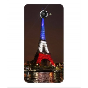 Coque De Protection Tour Eiffel Couleurs France Pour Vodafone Smart Ultra 7