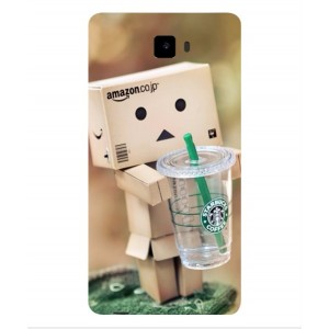 Coque De Protection Amazon Starbucks Pour Archos 55 Cobalt Plus