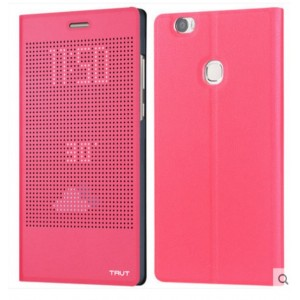 Protection Etui Flip Folio Dot View Rose Pour Huawei Honor 8