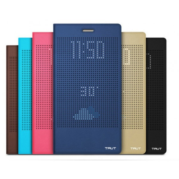 Housse etui flip folio dot view or huawei honor 8 for Housse honor 8