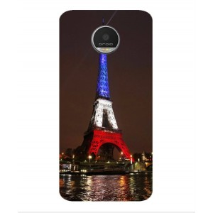 Coque De Protection Tour Eiffel Couleurs France Pour Motorola Moto Z Play