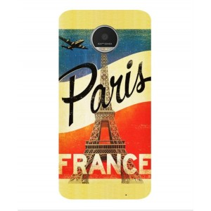 Coque De Protection Paris Vintage Pour Motorola Moto Z Play