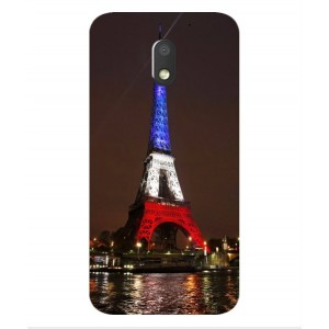 Coque De Protection Tour Eiffel Couleurs France Pour Motorola Moto E3 Power