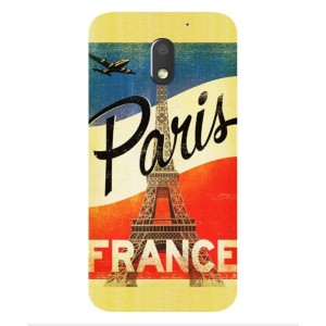 Coque De Protection Paris Vintage Pour Motorola Moto E3 Power