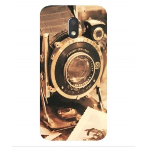 Coque De Protection Appareil Photo Vintage Pour Motorola Moto E3 Power