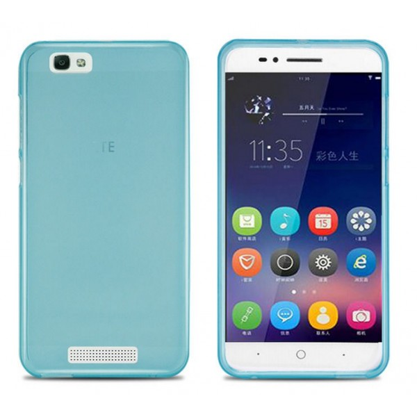 Coque protection silicone bleu zte blade a610 for Housse zte blade a610 plus