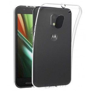 Coque De Protection En Silicone Transparent Pour Motorola Moto E3