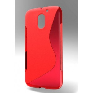 Coque De Protection En Silicone Rouge Pour Motorola Moto E3 Power