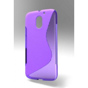 Coque De Protection En Silicone Violet Pour Motorola Moto E3 Power