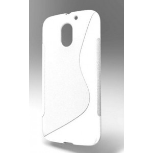 Coque De Protection En Silicone Blanc Pour Motorola Moto E3 Power