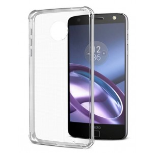 Coque De Protection En Silicone Transparent Pour Motorola Moto Z Play