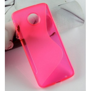 Coque De Protection En Silicone Rose Pour Motorola Moto Z Play