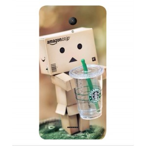 Coque De Protection Amazon Starbucks Pour Wiko U-feel Fab