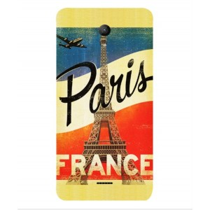 Coque De Protection Paris Vintage Pour Wiko U-feel Fab