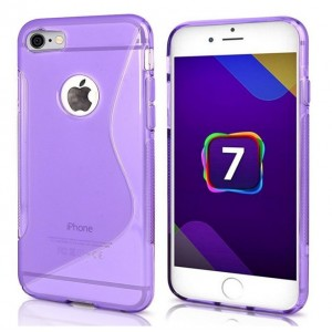 Coque De Protection En Silicone Violet Pour iPhone 7