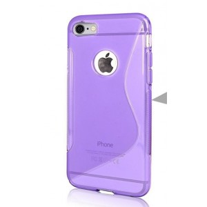Coque De Protection En Silicone Violet Pour iPhone 7 Plus