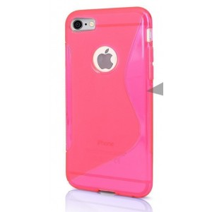 Coque De Protection En Silicone Rose Pour iPhone 7 Plus
